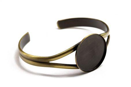 Armreif mit 25mm-Fassung, bronze (ab 2,76€/Stk)