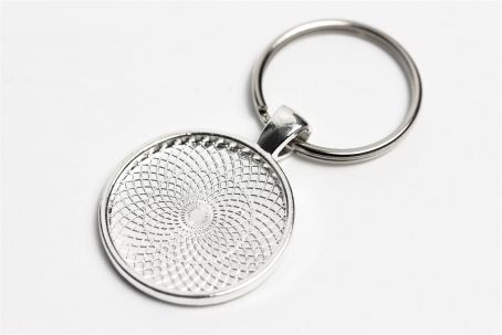 Schlüsselanhänger mit 25mm-Fassung silber (ab 0,92€/Stk)